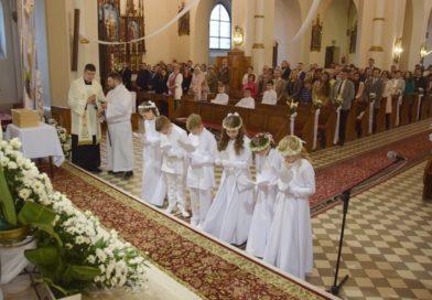 Pierwsza Komunia Święta w Jadownikach 28 czerwca